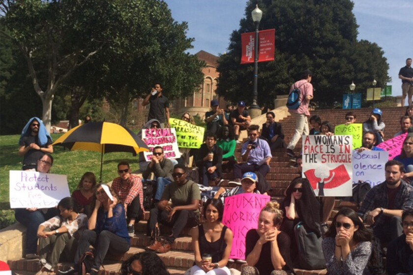Protesters gather at UCLA