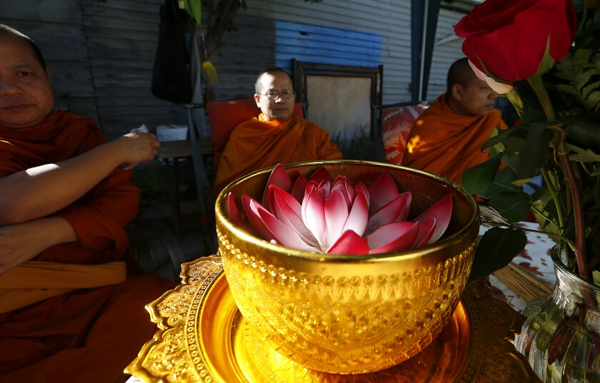 Buddhist cleansing ceremony in Long Beach