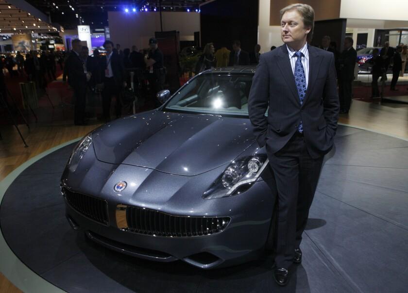 Henrik Fisker, at the 2009 Detroit auto show, quit as executive chairman of Fisker Automotive amid a dispute with management.