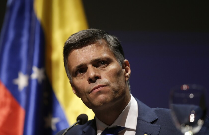 Venezuelan opposition leader Leopoldo Lopez at a news conference in Madrid on Tuesday.