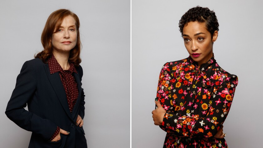 Isabelle Huppert, left, and Ruth Negga.