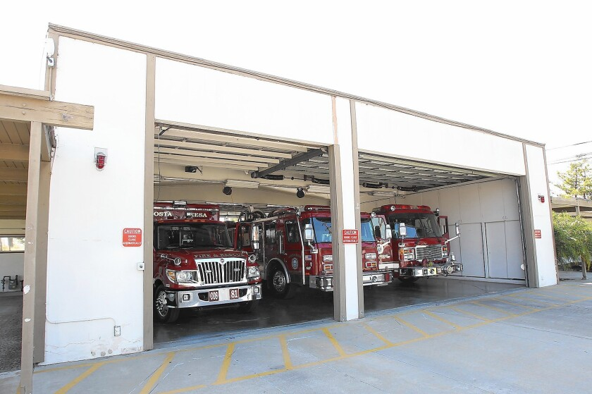 Costa Mesa fire station from the '60s looks every bit its