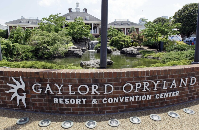 The Gaylord Opryland Resort and Convention Center in Nashville, a Marriott International Hotel, was accused of jamming conference attendees'own Wi-Fi networks, forcing them to pay to use the hotel's own connection.