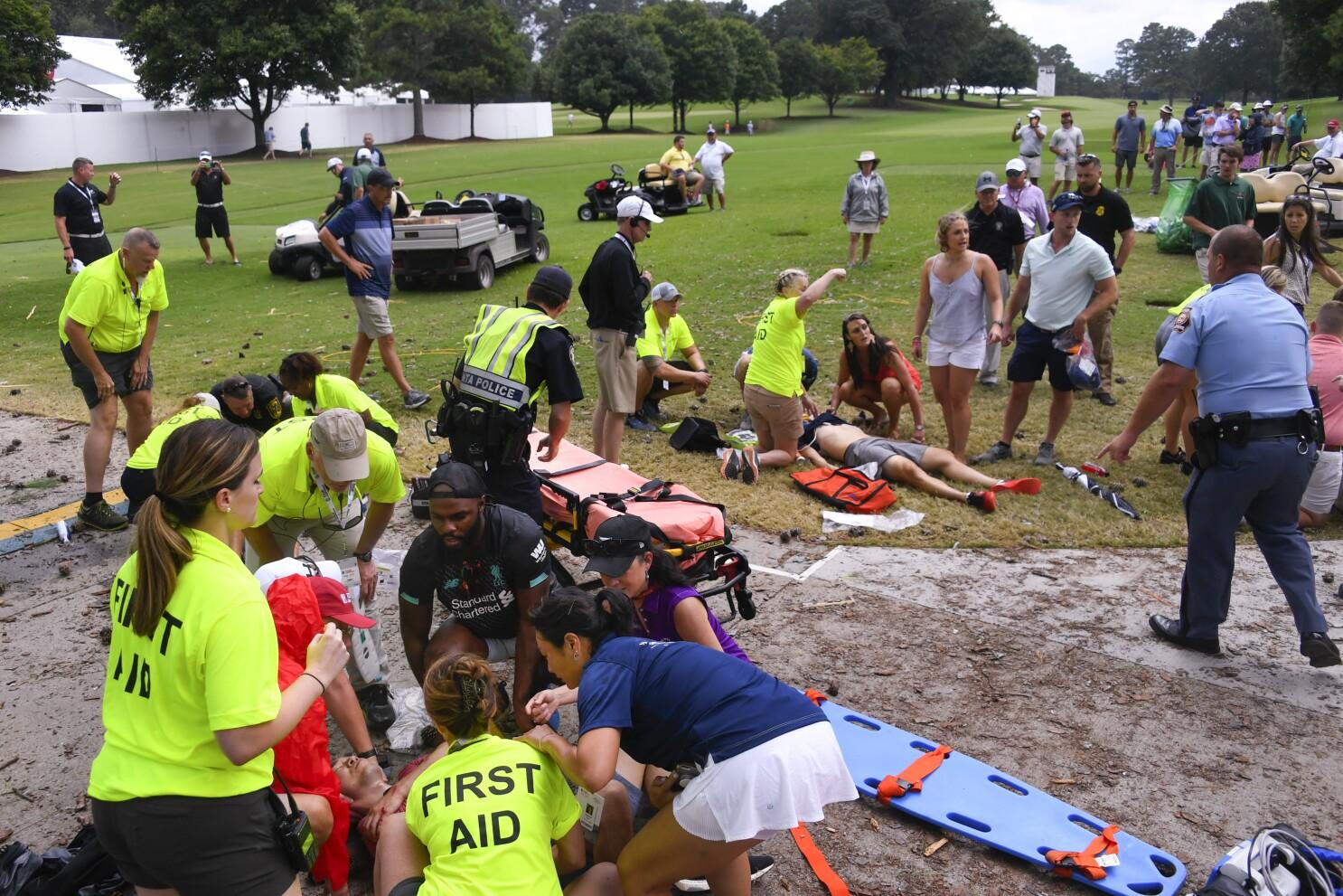 Lightning strike injures multiple fans at Tour Championship