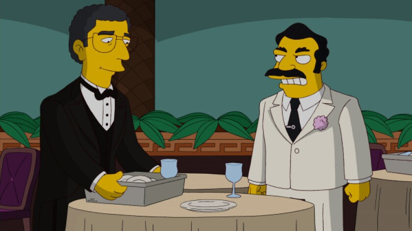 """Marvin Hamlisch recorded a brief vocal cameo for """"The Simpsons"""" on Fox before he died in August at the age of 68. The episode aired Sunday evening."""