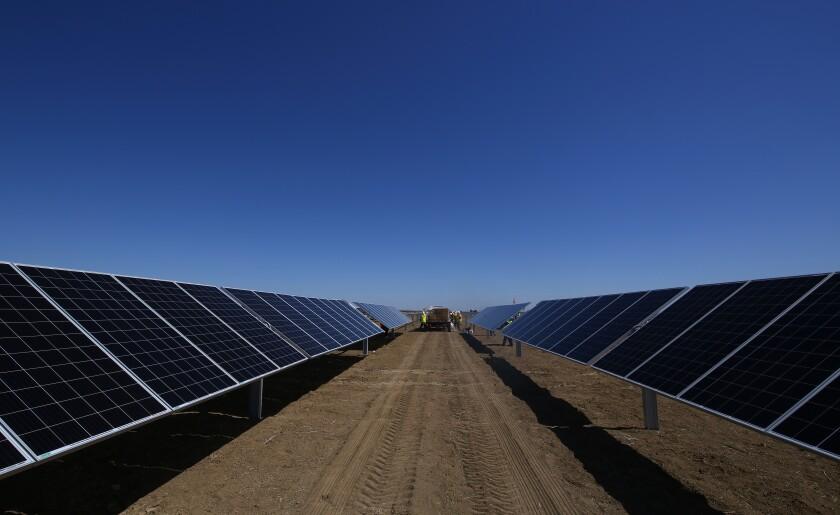 Construction site of Westlands Solar Park on June 24