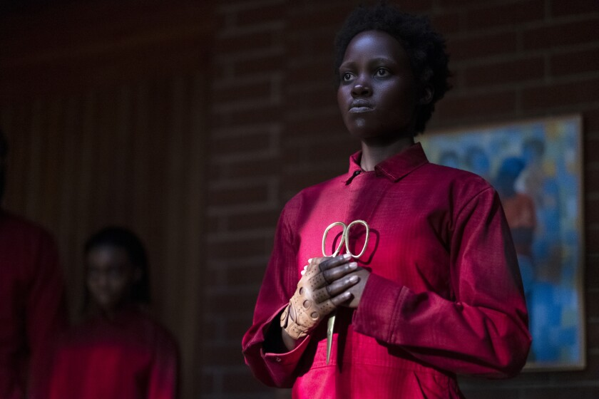 "Lupita Nyong'o as Red in a scene from Jordan Peele's ""Us."""