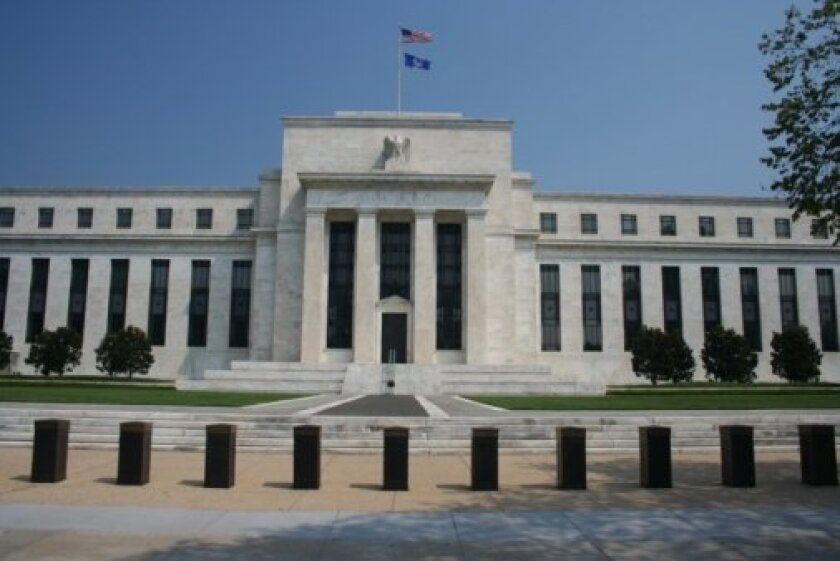 The Federal Reserve building in Washington, D.C., is where Chairman Ben Bernanke and other board members set monetary policy