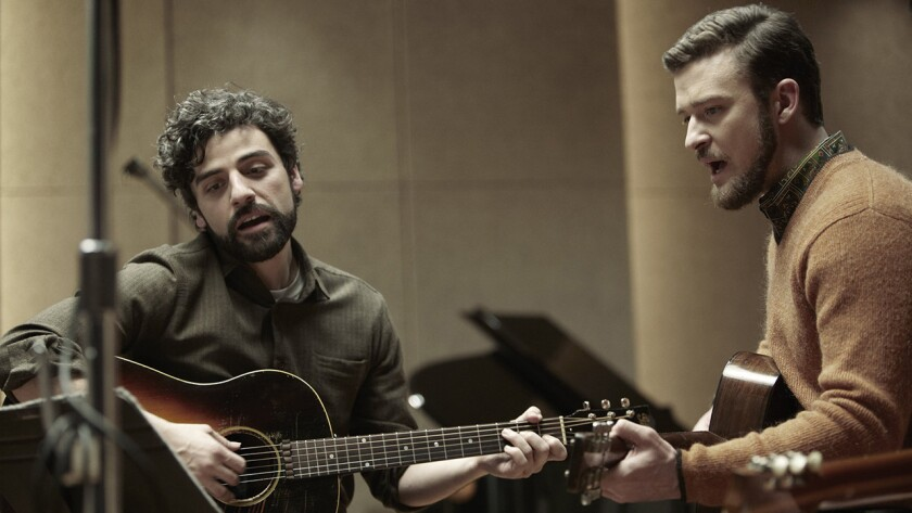 "Oscar Issac, left, and Justin Timberlake in ""Inisde Llewyn Davis."""