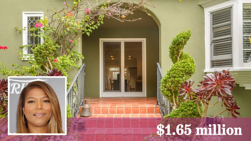Queen Latifah has sold a home she co-owned in Hollywood Hills for $1.65 million.