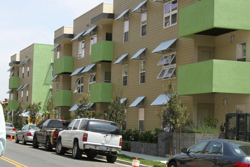 The Kalos apartments in North Park were made possible in part by fees paid by commercial developers to support affordable housing.