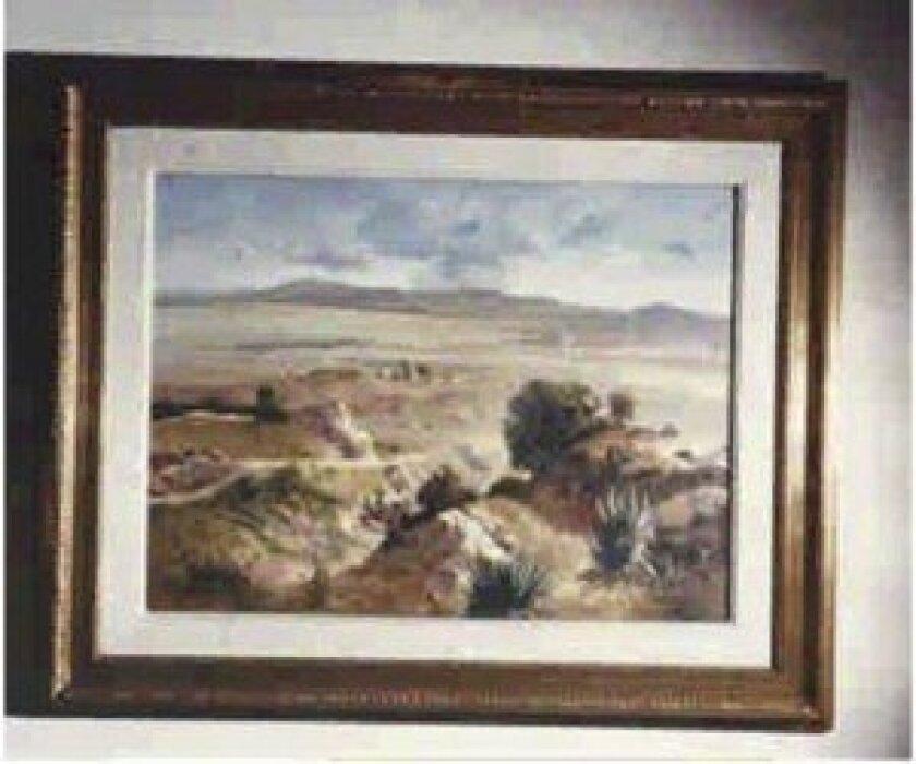 Jose Maria Velasco oil on canvas painting — El Valle de Mexico.