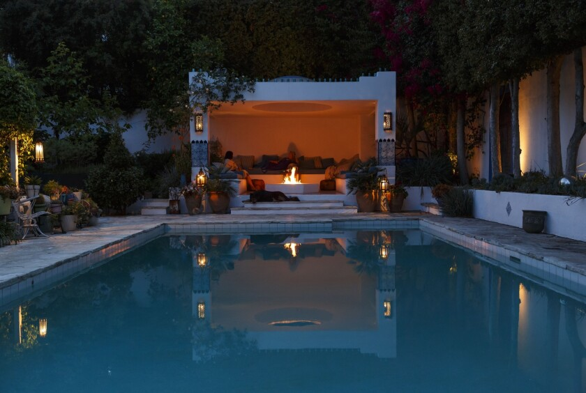 Moroccan-inspired pool