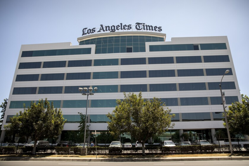 EL SEGUNDO,CA --THURSDAY, JUNE 28, 2018--The new sign on top of the new Los Angeles Times headquarte