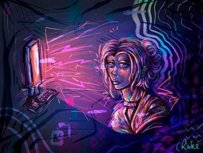 "Chloe Grace Roche's ""Digital Divide"" won the Congressional Art Contest."