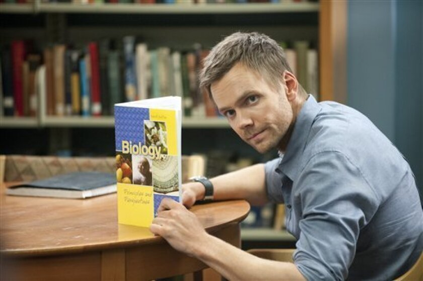 """In this publicity photo provided by Sony Pictures Television, actor, Joel McHale, is shown in a scene from """"Community - Introduction to Finality."""" (AP Photo/Sony Pictures Television, Lewis Jacobs)"""