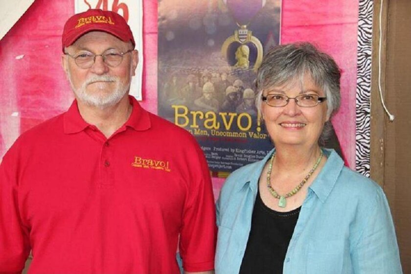 """""""Bravo!"""" film makers Ken and Betty Rodgers. Photo by Bill Chamberlain."""