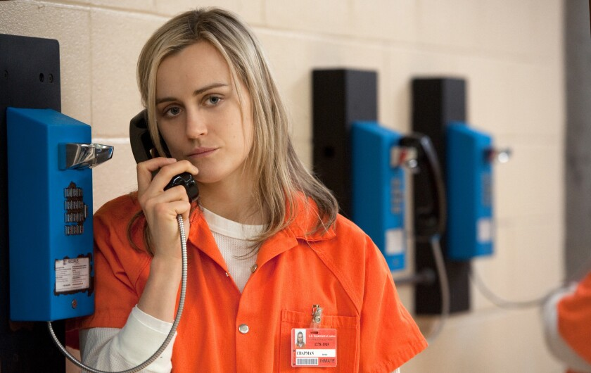 """Taylor Schilling is nominated for actress in a comedy series for her performance as convict Piper in """"Orange Is the New Black."""""""