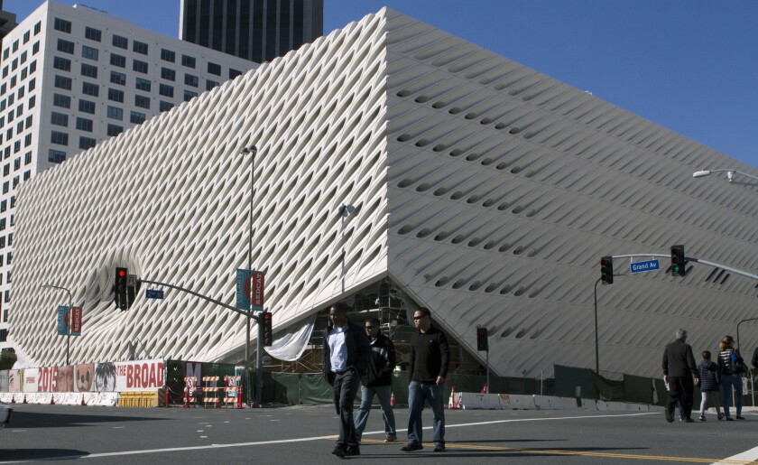 L.A.'s Broad museum downtown has set a Sept. 20 opening date. A sneak preview on Feb. 15 will cost $10.