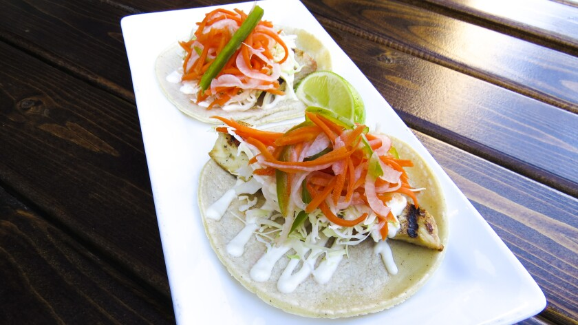 Fresh Catch Taco featuring battered or grilled local fish