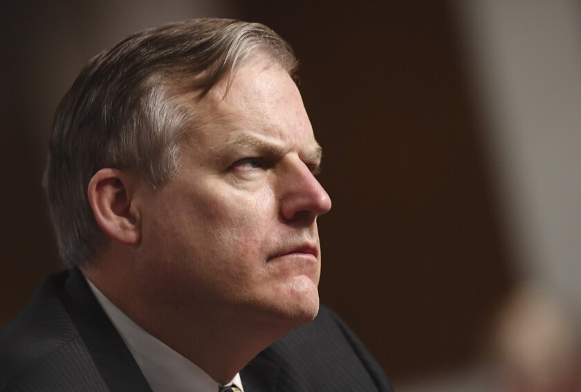 James H. Anderson testifies on his nomination before the Senate Armed Services committee