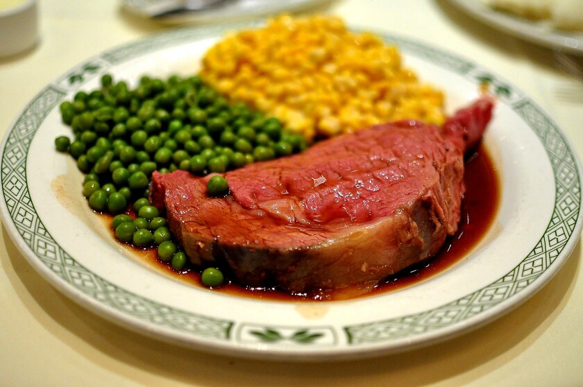 Prime rib at it's best from Lawry's Beverly Hills location.