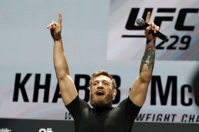 APphoto_UFC 229 Mixed Martial Arts