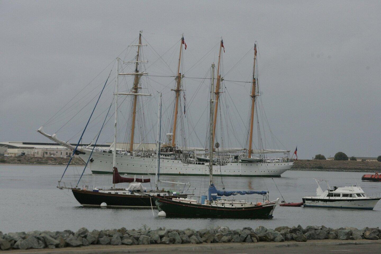 Chilean naval ship Esmeralda arrives