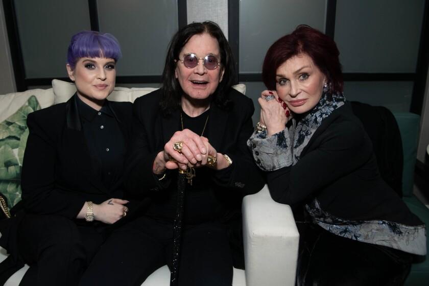 Kelly, Ozzy and Sharon Osbourne
