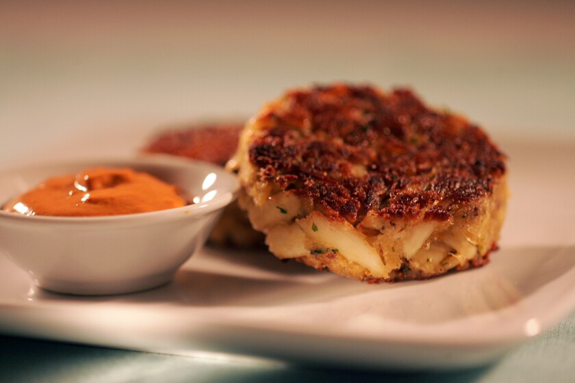 TASTY: This crab cakes are big on size, and flavor.