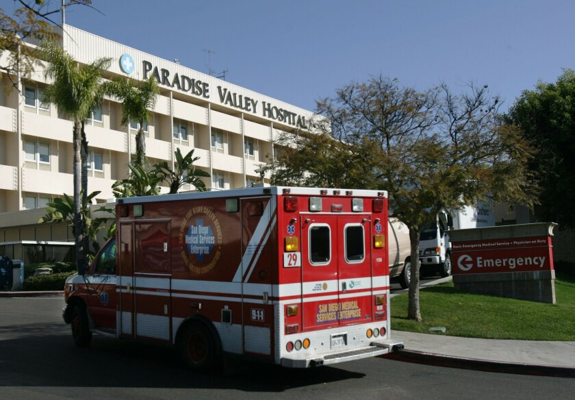 Paradise Valley Hospital in National City. / U-T file photo