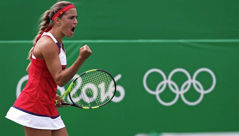 Mónica Puig, medallista de oro de Puerto Rico.
