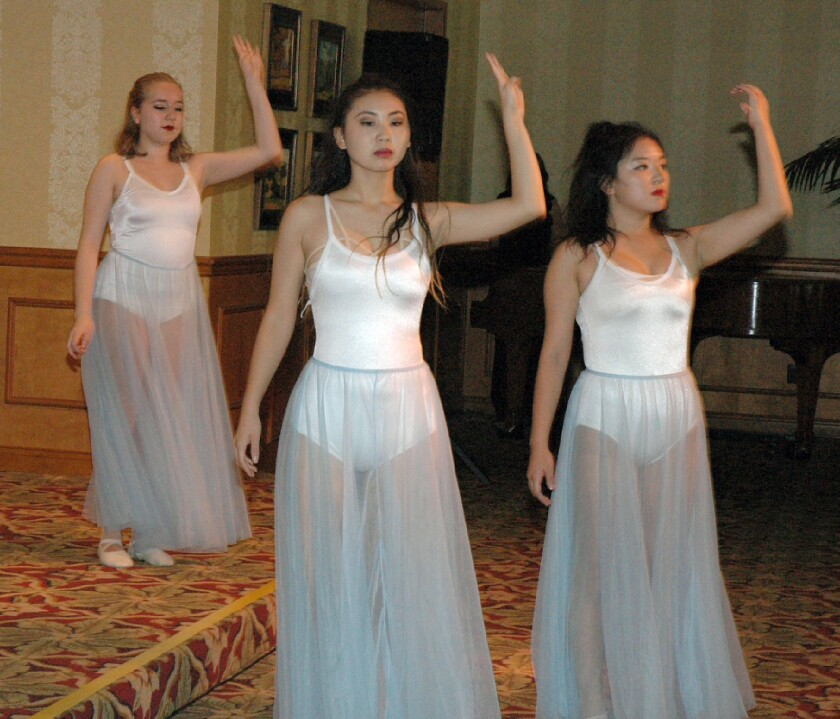 Glendale Community College dancers perform during the Dancing Toward Success luncheon.