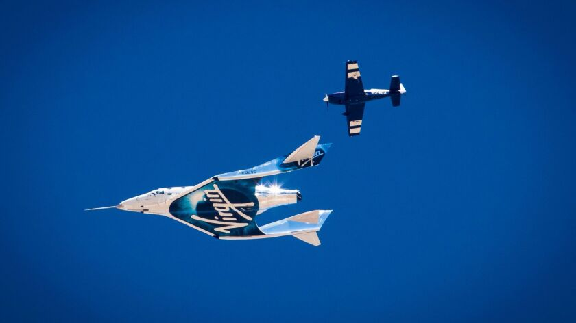 Virgin Spaceship Unity (VSS Unity) glides for the 5th time after being released from Virgin Mothersh