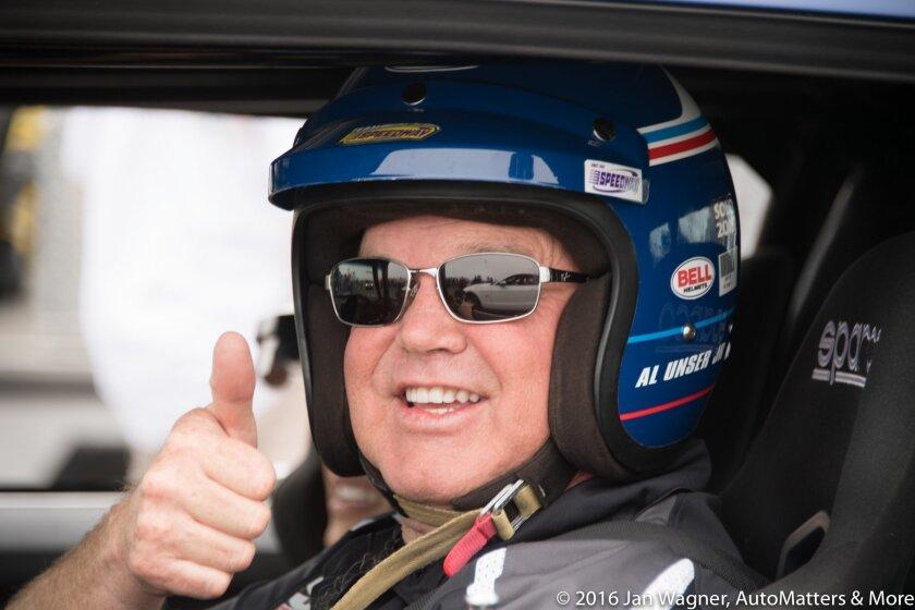 Al Unser Jr. about to take an autocross run