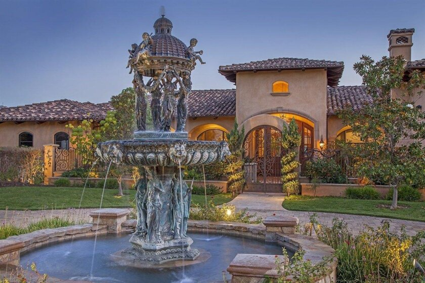 The dream house property occupies 5.7 acres above the Maderas Golf Club and has five bedrooms and seven bathrooms.