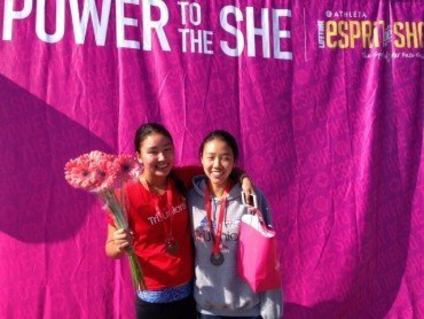 The Zhang sisters. Courtesy photo