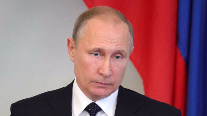 Russian President Vladimir Putin voiced hopes for an improvement in U.S.-Russia relations.
