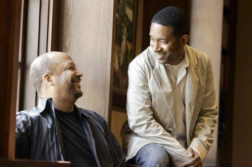 Playwright Charles Randolph-Wright, right, and Pasadena Playhouse artistic director Sheldon Epps.