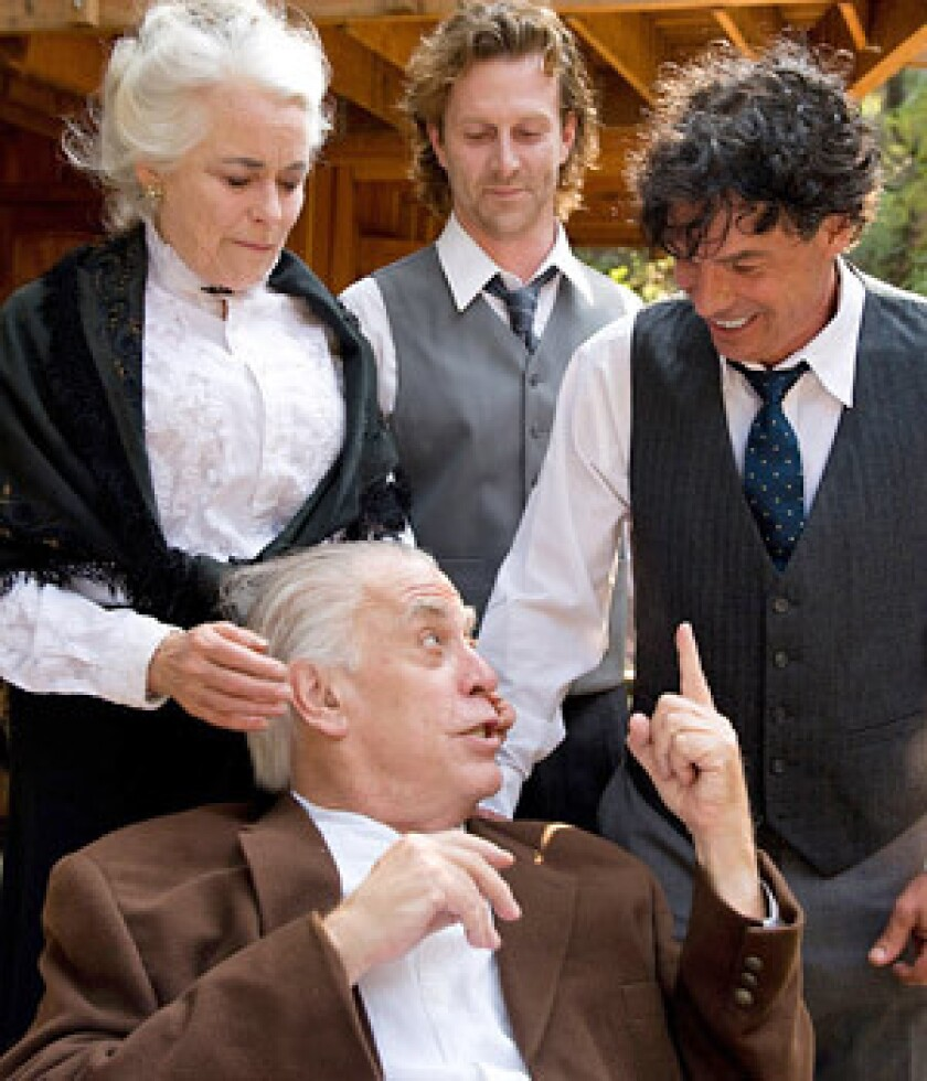 "DYSFUNCTIONAL: Ellen Geer, William Dennis Hunt, Aaron Hendry and Jim LeFave star in Eugene O'Neill's ""Long Day's Journey into Night,"" at the Will Geer Theatricum Botanicum."
