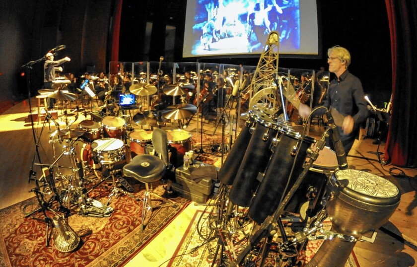 """Police drummer Stewart Copeland, right, will perform his version of """"Ben Hur: A Tale of the Christ"""" score at the at the Valley Performing Arts Center in Northridge this Wednesday."""