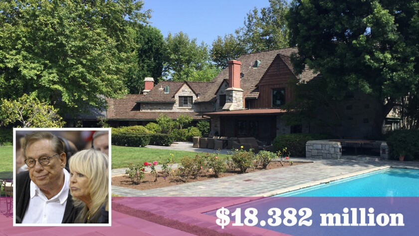 Former L.A. Clippers owners Donald and Shelly Sterling paid $18.382 million for the Tudor-style home on 1.59 acres in Beverly Hills.