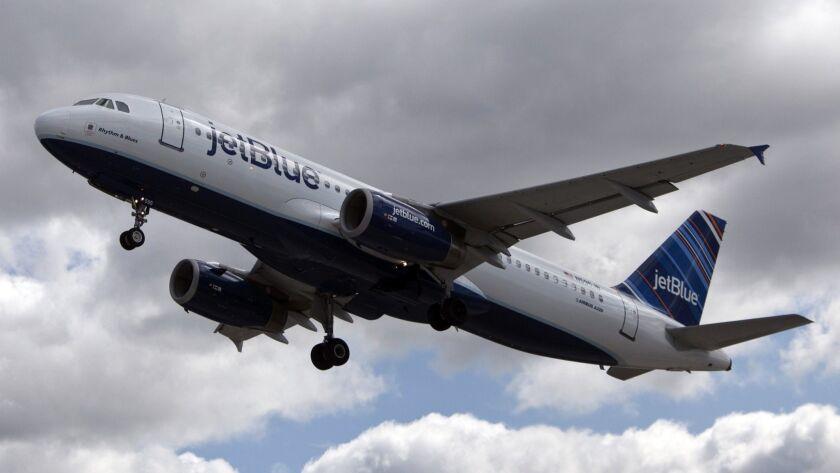 JetBlue Plane At John F. Kennedy International Airport
