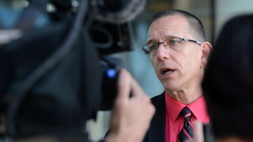 Michael Selyem, a lead gang prosecutor in San Bernardino County, was placed on administrative leave for a series of offensive social media posts.