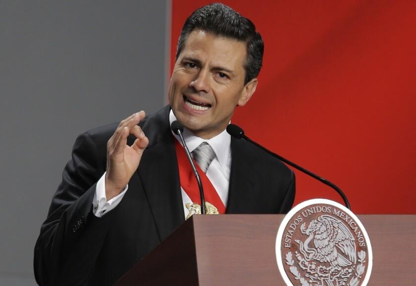 Mexico's President Enrique Peña Nieto fired Humberto Benitez Treviño head of the consumer protection agency.