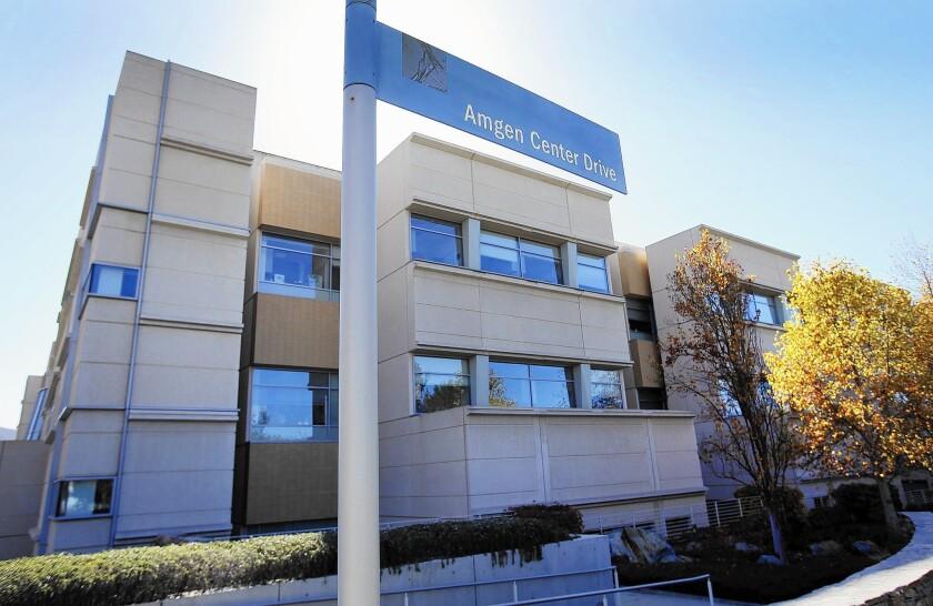 An Amgen building