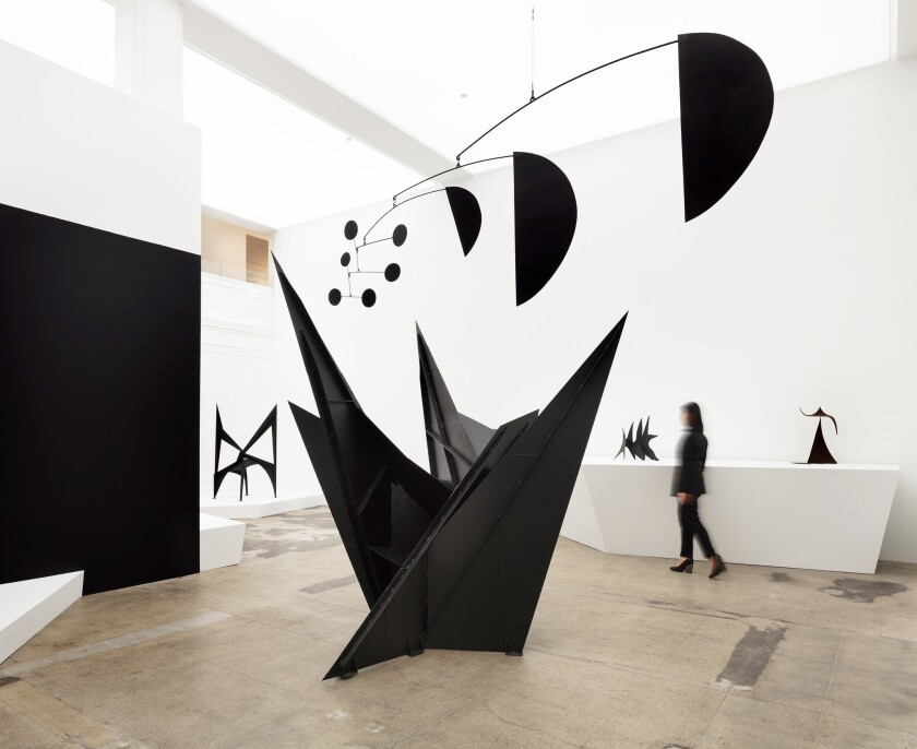 "Installation photo from Hauser & Wirth's Los Angeles ""Calder: Nonspace"" exhibit devoted to renowned artist Alexander Calder (1898-1976)."