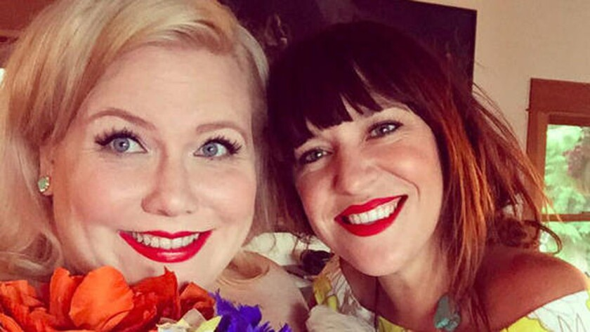 Lindy West, left, and Amelia Bonow