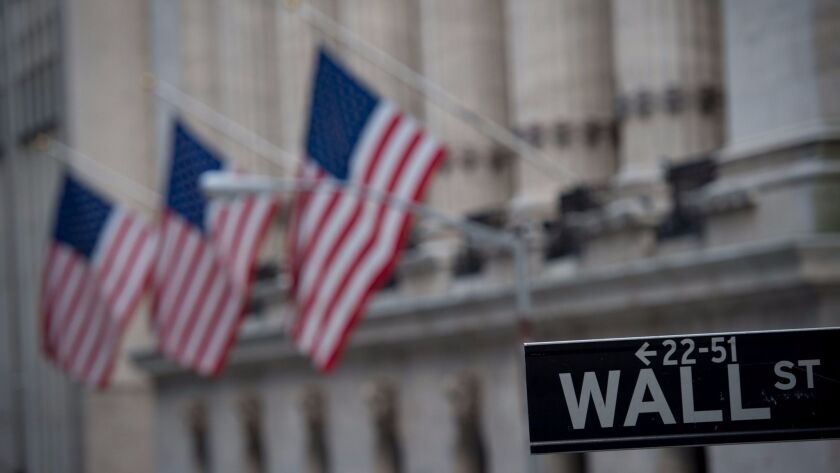 (FILES) This file photo taken on February 16, 2017 shows the New York Stock Exchange in New York.
