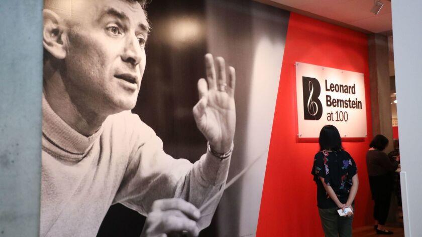 Leonard Bernstein at 100 exhibit celebrates famed musical icon, Los Angeles, USA - 25 Apr 2018